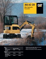 Specalog for 303.5C CR Mini Hydraulic Excavator ... - Kelly Tractor