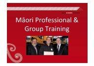 2011 05 04 CM Leith Comer - Maori Economic Summit - Te Puni Kokiri