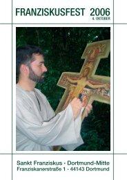 Ein Gruß für Sie zum Franziskusfest 2006 - St. Franziskus Kirche