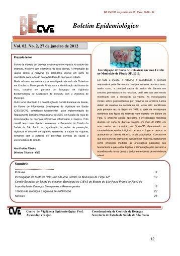 edição em pdf - Centro de Vigilância Epidemiológica
