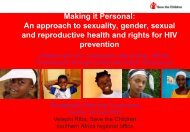 Making it Personal: An approach to sexuality, gender, sexual and ...