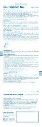 Lac®-Ophtal® Gel - Dr. Winzer Pharma