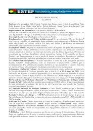 REUNIAO DO COLEGIADO Ata 2008-03 Professores/as ... - estef