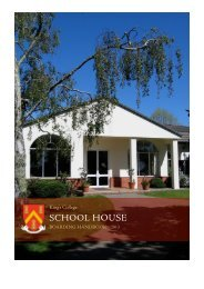 School House Handbook 2013 - King's College