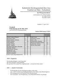 Protokoll der PGR-Sitzung am 28. März 2011 - Herz Jesu Fechenheim