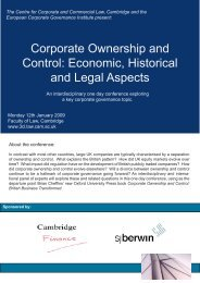 Corporate Ownership and Control - European Corporate ...