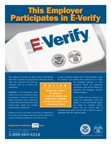 E-Verify Participation Poster English Version - Careers at Wellpoint