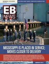 EB News March 2012 - Electric Boat Corporation