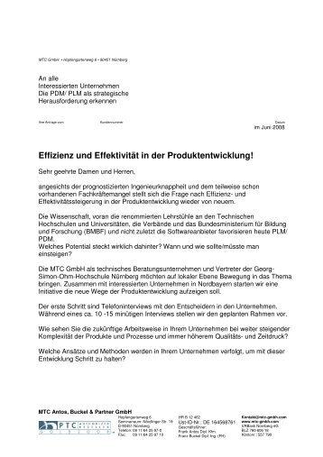 Effizienz und Effektivität in der Produktentwicklung! - MTC GmbH