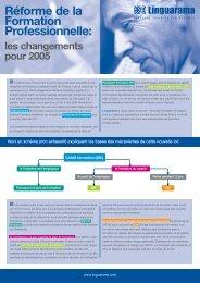 Réforme de la Formation Professionnelle: - Linguarama