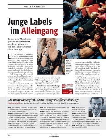 Junge Labels im Alleingang - Institut für Markentechnik SA
