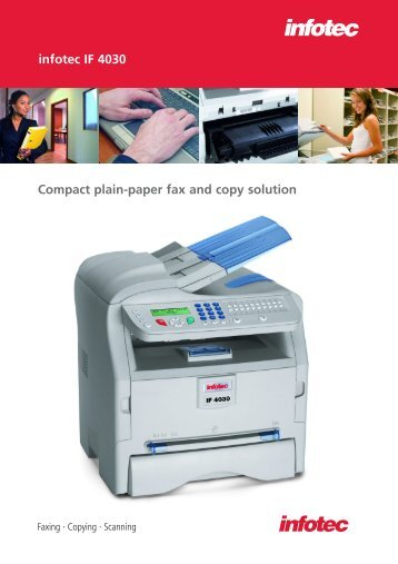 Compact plain-paper fax and copy solution infotec IF 4030