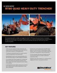 RT80 QUAD HEAVY-DUTY TRENCHER - Ditch Witch