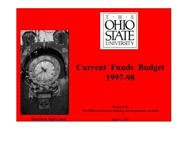 Current Funds Budget 1997-98 - Financial Planning & Analysis
