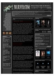 Horror Press Releases and Sci-Fi Press Releases |  Buried.com