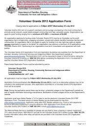 Volunteer Grants 2012 Application Form