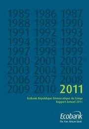 Ecobank République Démocratique du Congo Rapport Annuel 2011