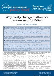 policy brief - Business for New Europe