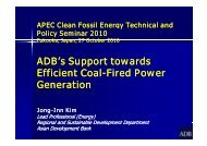 ADB's Support towards Efficient Coal Efficient Coal-Fired Power ...