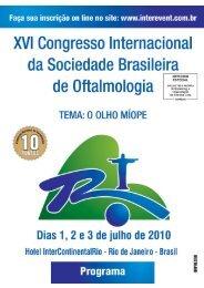 XVI Congresso Internacional da Sociedade Brasileira de Oftalmologia