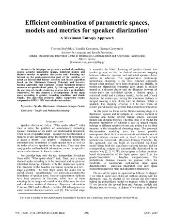 Efficient combination of parametric spaces, models ... - ResearchGate