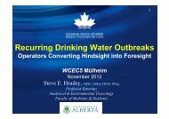 Recurring drinking water outbreaks - what operators need to ...