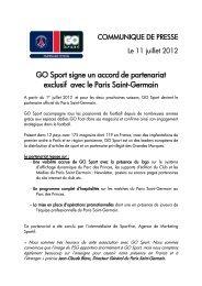 GO Sport signe un accord de partenariat exclusif ... - Groupe Go Sport