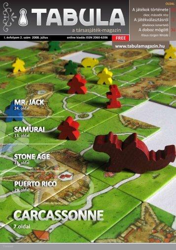 carcassonne kiegészítők - Tabula