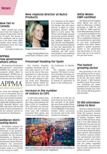 New fair in Canada Vadigran distri- buting Nutro ... - PET Global