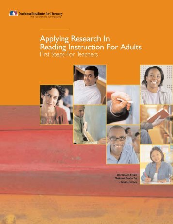 Applying research in reading for adults - LINCS - U.S. Department of ...