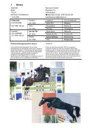 Liste des chevaux à vendre - Zuchtverband CH Sportpferde