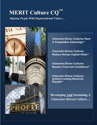MERIT Culture Character Quotient Brochure - Future Achievement ...