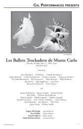 Les Ballets Trockadero de Monte Carlo - Cal Performances
