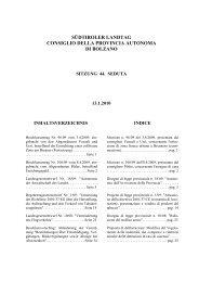 südtiroler landtag consiglio della provincia autonoma di bolzano