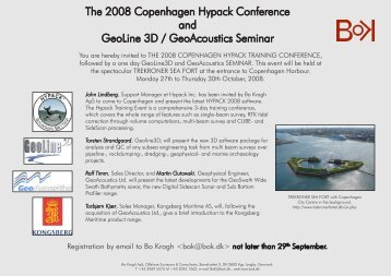 The 2008 Copenhagen Hypack Conference and GeoLine 3D ...