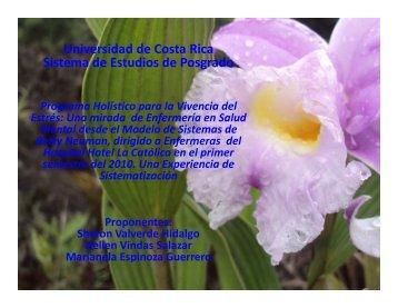 Universidad de Costa Rica Sistema de Estudios de Posgrado