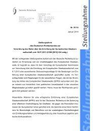 DRB-Stellungnahme Nr. 01/14 - Deutscher Richterbund