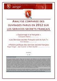 Analyse comparée des ouvrages parus en 2012 sur les services ...
