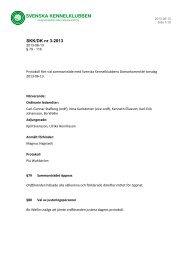 SKK/DK nr 3-2013 - Svenska Kennelklubben