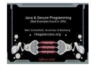 Java & Secure Programming