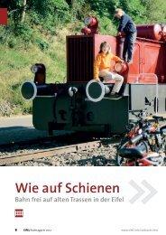 Wie auf Schienen - Die Bahntrassenradwege der Eifel (Redaktion)