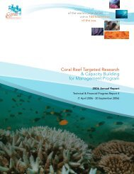 CRTR 2006 Annual Report.pdf - Coral Reef Targeted Research