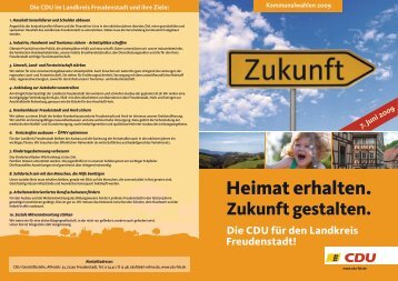 Heimat erhalten. - CDU Kreisverband Freudenstadt