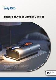 Lue lisää H5i-lämminvesikostuttajasta ja Climate Control - ResMed