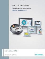 SIMATIC HMI Panels - Brochure, November 2011 - Industry