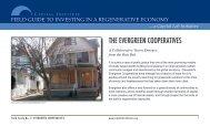 THE EVERGREEN COOPERATIVES - Capital Institute