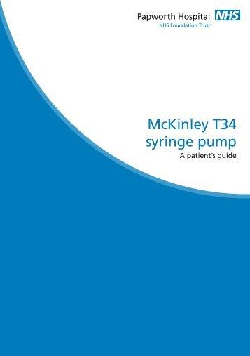 McKinley T34 syringe pump - Papworth Hospital