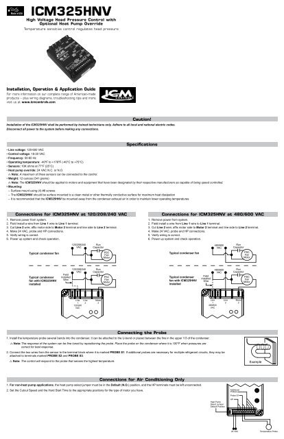 Installation Guide - ICM Controls on