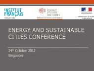 energy and sustainable cities conference - Energy Studies Institute