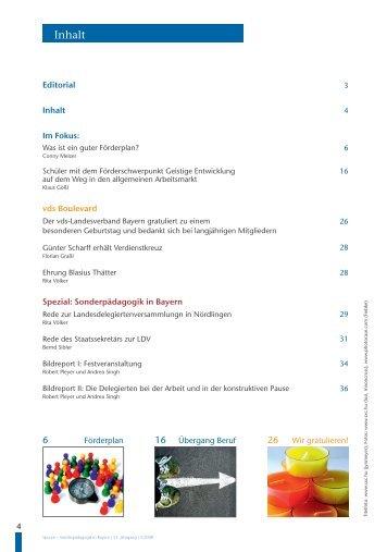 Inhalt - vds Verband Sonderpädagogik in Bayern